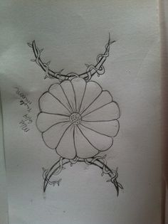 Triple moon with daisy Design for a new tattoo