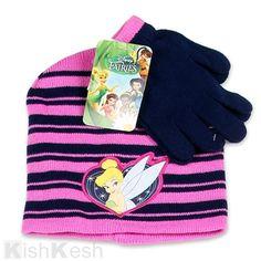 8b7ff79deaa Tinker Bell Toddler Girls Beanie and Gloves Set.  Disney  Princess  Winter