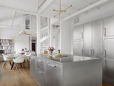 Küche aus Edelstahl für Gewerbe EGO by ABIMIS by PRISMA   Design Alberto Torsello