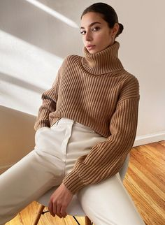 Turtleneck Outfit, Cropped Sweater, Sweater Outfits, Blouse And Skirt, Sweater Fashion, Fashion Boutique, Sweaters For Women, Fashion Outfits, Fashion Fall