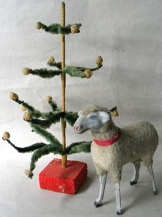 feather tree and lamb .....