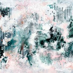 """Nordic Sky"" Original Artwork by Kate Fisher - Kate Fisher Art"