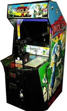 The Operation Wolf arcade machine. The most fun at the seaside. (There was one outside the Black Hole ride at Alton Towers for ages too!)