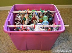 DIY Ornament Organizing Hacks- Organizing your Christmas decorations doesn't have to be difficult, or expensive. This year, give these clever Christmas decoration storage hacks a try! Christmas Storage, Diy Christmas Ornaments, Christmas Decorations, Storage Hacks, Diy Storage, Storage Solutions, Storage Ideas, Diy Ornament Storage, Creative Storage