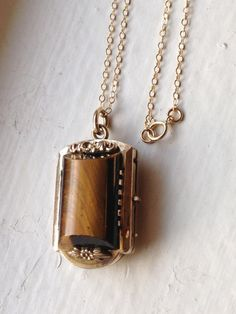 Antique Victorian Mourning Gold Locket Necklace, Watch Fob with Tigers Eye and Bloodstone, Gold Photo Locket, Heirloom