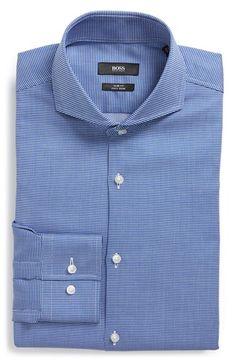 Men's BOSS 'Dwayne' Slim Fit Easy Iron Check Dress Shirt
