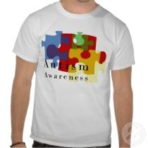 Autism Awareness t-shirts with a colorful puzzle design #autism AwarenessRibbonGifts.com