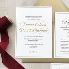 Beauty.  Classic.  Everything Emma and David wanted on their wedding day.  And it started with the invitation.   Congrats to this beautiful couple!