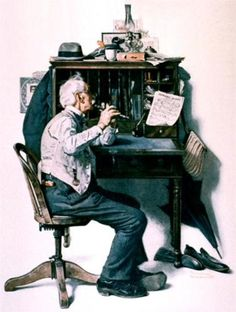 Flute - Norman Rockwell; wk.3 and pin 5;  Norman, one of my true heroes of the art world  need i say more???