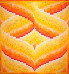 Hearts Aflame Bargello Quilt Pattern by QuiltingJays on Etsy