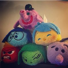 """Repost from @amywalley """"Picture of the Inside Out tsums from Nick Pitera on Facebook."""" These are so cute!! Hitting US/UK/EU Disney stores June 2!!"""