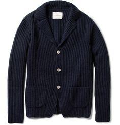 HartfordRibbed Wool and Cashmere-Blend Cardigan|MR PORTER