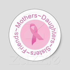 Get your hands on great customizable Pink Ribbon stickers from Zazzle. Breast Cancer Quotes, Breast Cancer Walk, Breast Cancer Survivor, Breast Cancer Awareness, I Hate Cancer, Cancer Facts, Holidays And Events, Custom Stickers, Daughters