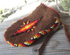 Medicine bag. Native American beaded pouch. Traditional suede Moose Leather pouch. For sweetgrass Amulet Lucky Brown Medecine pouch