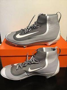 556e01a5b9bf Nike Air Huarache 2K Filth Elite Mid Metal Baseball Cleats Grey 749359-011  13