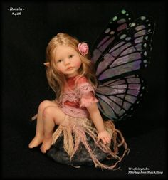 Weefairytales fairies fae OOAK art doll baby fairy sculpture
