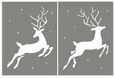 Large Reindeer Stencil/dn1