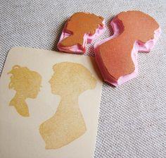 Jane Austen silhouette stamp