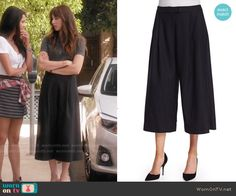 Spencer's culottes on Pretty Little Liars.  Outfit Details: https://wornontv.net/56440/ #PLL