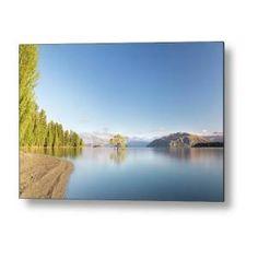 Wanaka Tree New Zealand Landscape Mountain Lake Metal Print by Joshua Small