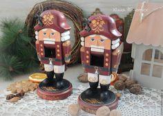 Купить Щелкунчики большие деревянные. - щелкунчик, новогодний подарок, новогодний интерьер, новогодние подарки