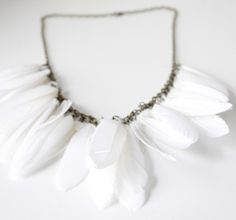 beautiful feather necklace