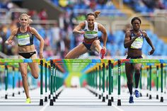 Jessica Ennis-Hill in the heptathlon 100m hurdles at the Rio 2016 Olympic Games