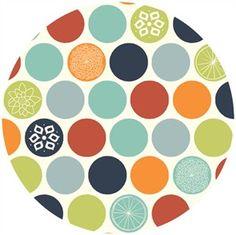 Jay-Cyn Designs for Birch Organic Fabrics, Eiko, Flower Dots