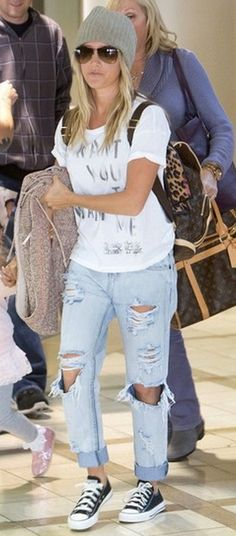 One Teaspoon Awesome Baggies in Fiasco - as seen on Ashley Tisdale  Loving the relaxed casual look