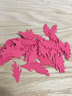 dragon flame cutouts, dragon party, party decoration, garland, confetti, flame, flame die cut, girl boy birthday, puff the magic dragon by marjendesigns on Etsy https://www.etsy.com/listing/485329127/dragon-flame-cutouts-dragon-party-party