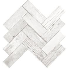 Reclaimed Wood Tile - Herringbone White Wash