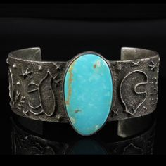 Delford Yazzie Beautiful Tufa Cast Sterling Silver Bracelet