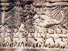 Bayon Angkor Relief1 - War elephant - Wikipedia, the free encyclopedia
