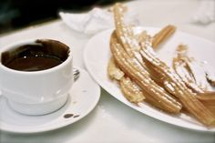Madrid - churros con chocolate...best at 7 a.m. after dancing all night...