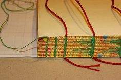 Encuadernación carámbano tutorial. Reino artesanal. The icicle stitch tutorial
