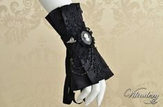 Beautiful Gothic Victorian Cuff Bracelet with lady cameo, Lolita Vampire Style, Dark Fashion, Elegant Goth Wedding Jewelry, Accessories http://www.etsy.com/shop/Vilindery