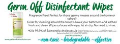 Shaklee Germ Off Disinfectant Wipes go green with Shaklee for earth day - nontoxic cleaners www.gatheredinthekitchen.com