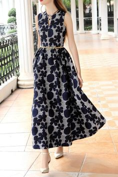 035174b24ae94 Differentes Blue Floral Maxi Dress   Maxi Dresses at DEZZAL Blue Floral  Maxi Dress, Professional