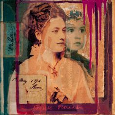 Anyes Galleani - Formal Portraits (Mixed Media, painting, photography) | From a unique collection of mixed media at http://www.1stdibs.com/art/mixed-media/