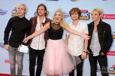 25 April 2015 - Los Angeles, California - Riker Lynch, Rocky Lynch, Rydel Lynch, Ellington Ratliff, Ross Lynch, R5. 2015 Radio Disney Music Awards held at Nokia Theatre LA Live. Photo Credit: Byron Purvis/AdMedia