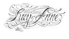 chicano_lettering_lucy_anne_by_2face_tattoo-d31o04m.jpg 600×338 pixels