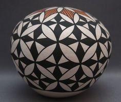 Acoma Pottery Seed Jar...I have one similar to this that I bought from artist Frances Concho (Acoma Pueblo, NM)