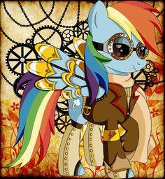 Steampunk Rainbow Dash by Deviant artist http://0ravensrequiem0.deviantart.com/ love it!