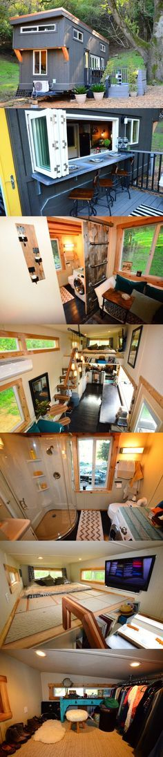 A tiny house where I could still have parties??? Want. Love the open window for outdoor activities.