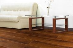 BuildDirect – Laminate - 12mm Basilica Collection – Teakwood - Living Room View