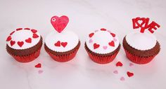 Something sweet for your sweetheart :)  Recipe courtesy of Tablespoon.com  #baking #desserts Baking Desserts, Baking Cups, Baking Soda, Dessert Recipes, Cupcake Pans, Distilled White Vinegar, Red Velvet Cupcakes, Beetroot, Fabulous Foods