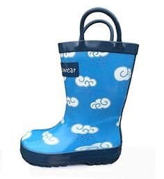 Try This!  Oakiwear Kids Boys Rubber Rain Boots with Easy #Oakiwear
