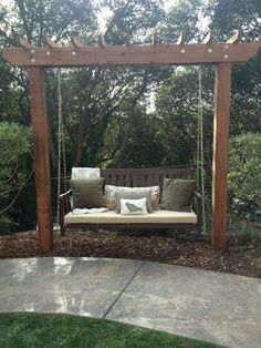 My sister's new Backyard swing. #garden_bench_swing