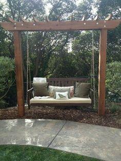 My sister's new Backyard swing.