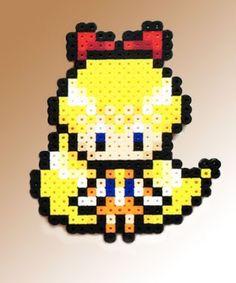 Sailor Moon Inspired 8 Bit Perler - Sailor Venus via eb.perler. Click on the image to see more!